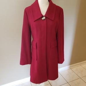 CLASSY TULLE PEA COAT BUTTON UP RETRO LINING XL